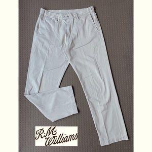 R.M. Williams Beige Straight Chino Pants W38 L33